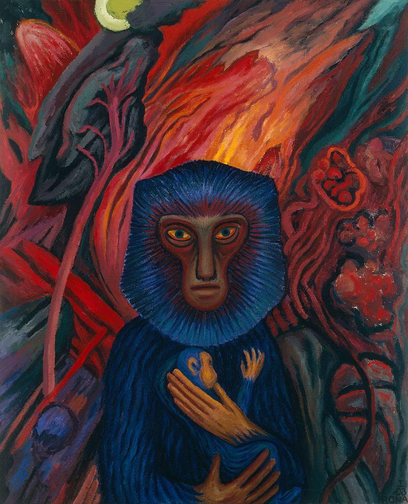 Modrá opice